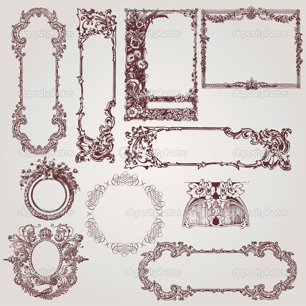 Victorian Design Elements victorian picture frame |  of beautiful antique victorian