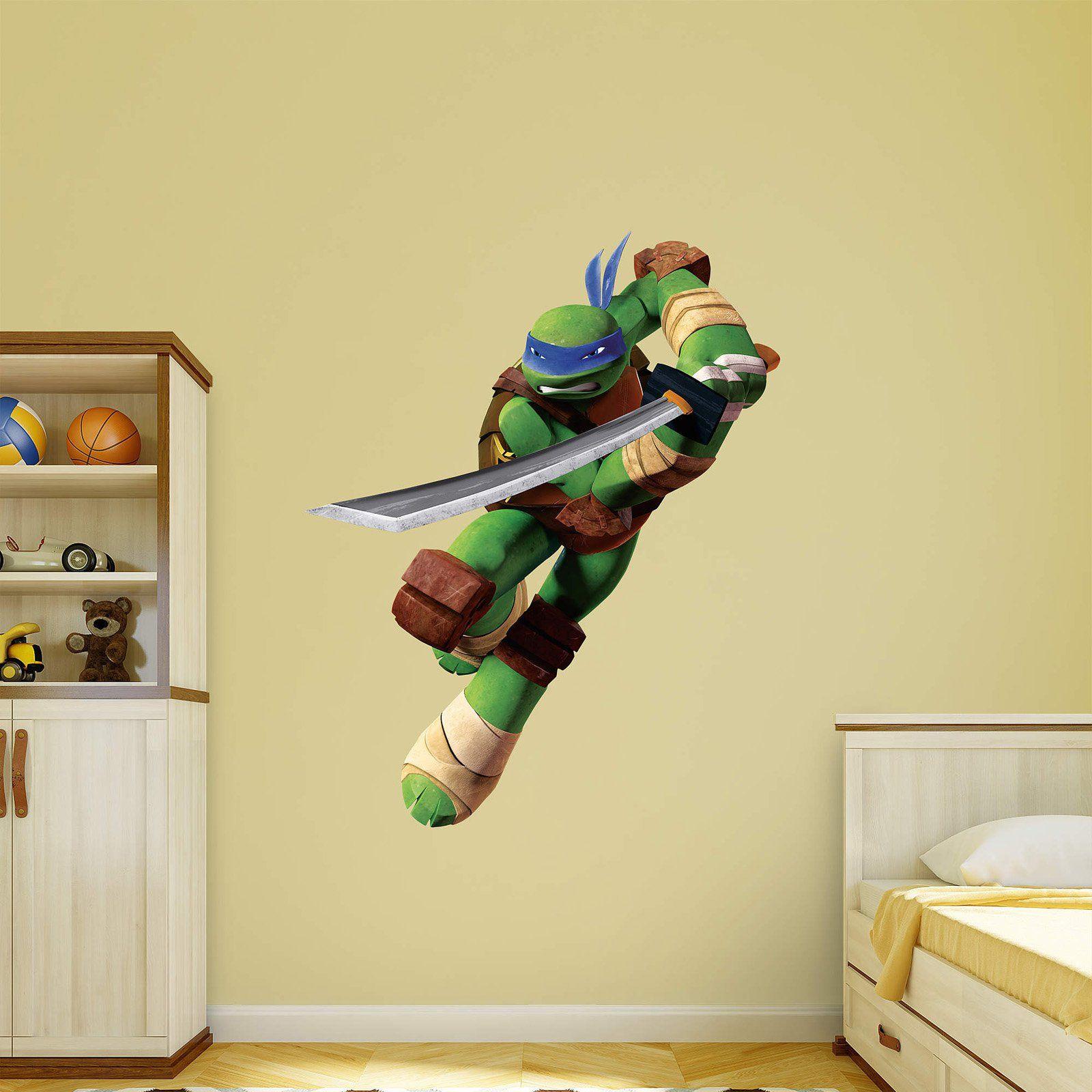 Amazon Com 9 Inch Donatello Donnie Leonardo Leo Michelangelo Mikey Raphael Raph Turtle Tmnt Teenage Mutant Ninja Turtles Removable Peel Self Stick Wall Decal Sticker Art Kids Decor Boys Room 9 1 2 X