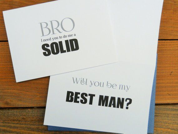 065dff4225ad1 Will You Be My BEST MAN Card, Will You Be My Best Man, Best Man ...