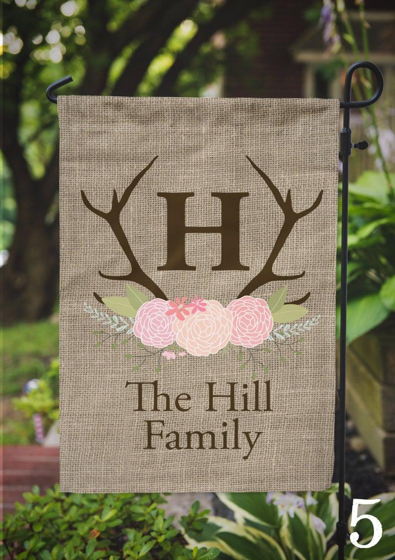 Garden Flag Personalized Name Monogram Family Outdoor Flag Etsy Outdoor Flags
