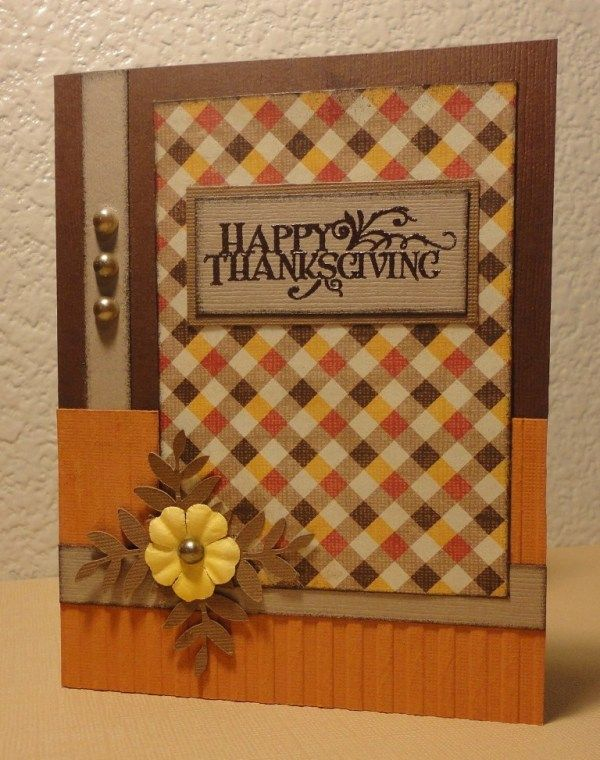 Ideas For Thanksgiving Cards To Make Part - 15: Thanksgiving Card - Scrapbook.com