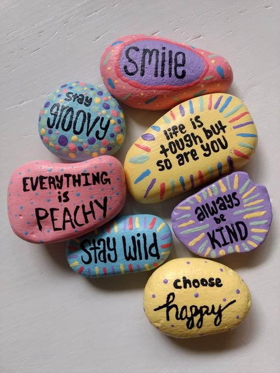 Items similar to Hand Painted Rocks on Etsy
