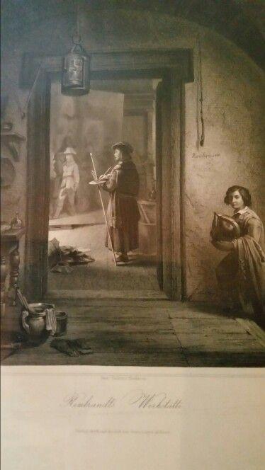 G.RICCIO.  REMBRANDT WERLATTE. 1841.  litografia. 110 × 130 mm.  margini regolari.  l'incisione presenta scritte sul retro. Bibliografia : Poliorama Pittoresco, Napoli, 1841