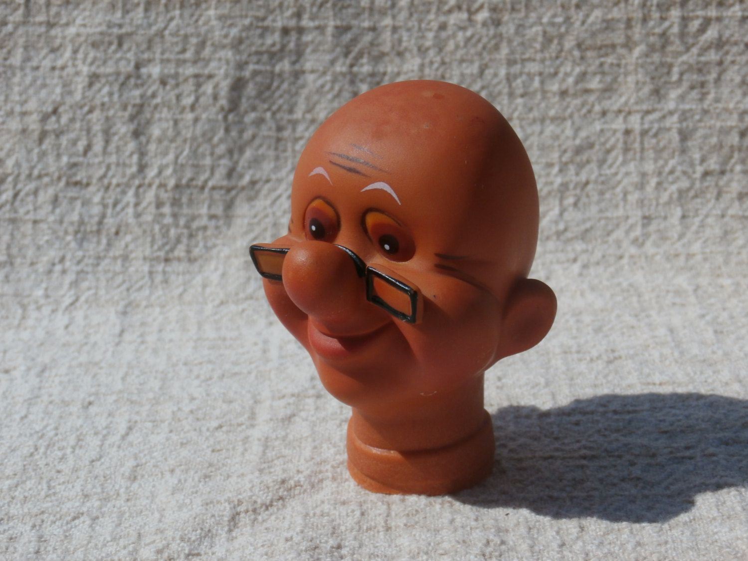 New Vintage Stock  Doll Head Bald Clown Crafts Parts