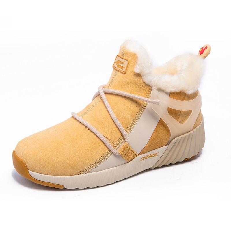 Yellow Warm Boots ONEMIX Winter Snow
