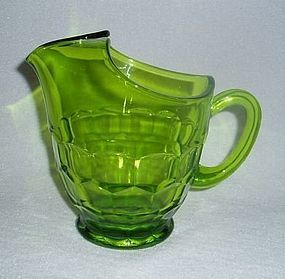 Viking Glass Avocado Green Georgian Milk Juice Pitcher