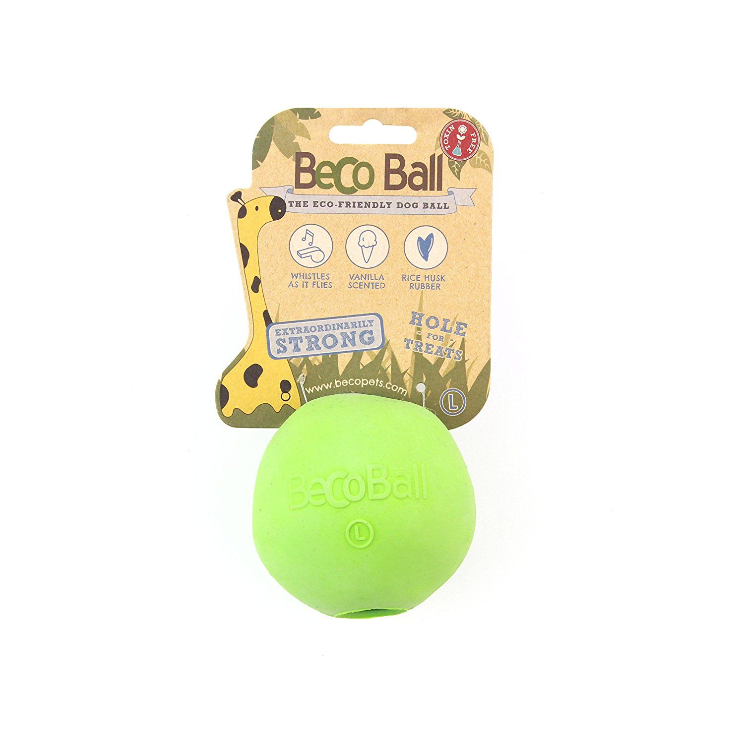 Becoball L Green Biodegradable Eco Friendly 100 Natural Pet