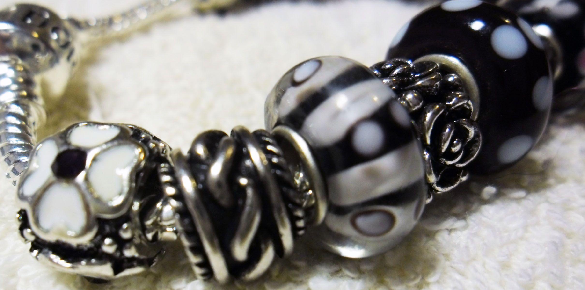 Black and white Pandora, my shop helenkagood.livem.
