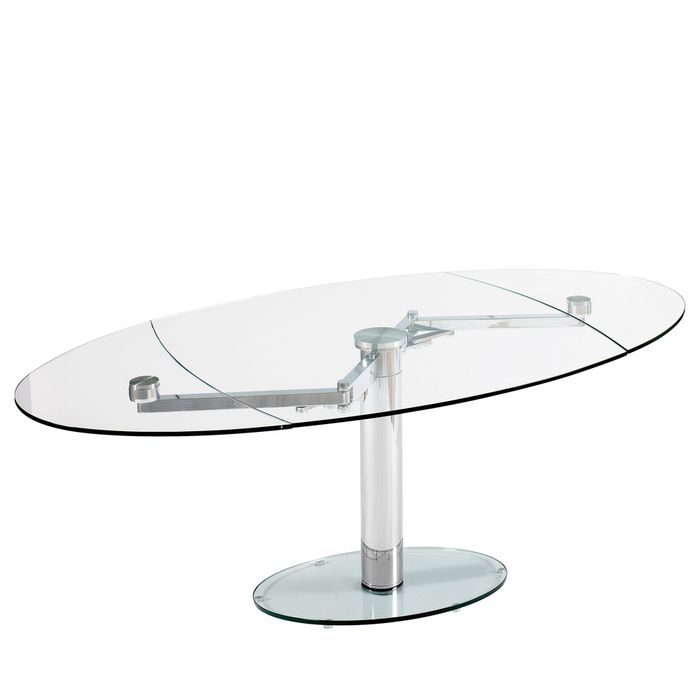 Luca Gl Extending Dining Table Clear