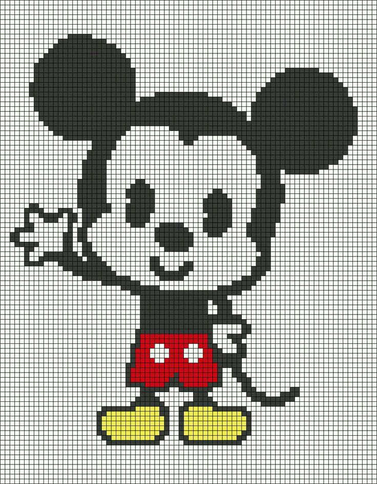Facile Pixel Art Disney Mickey Novocom Top