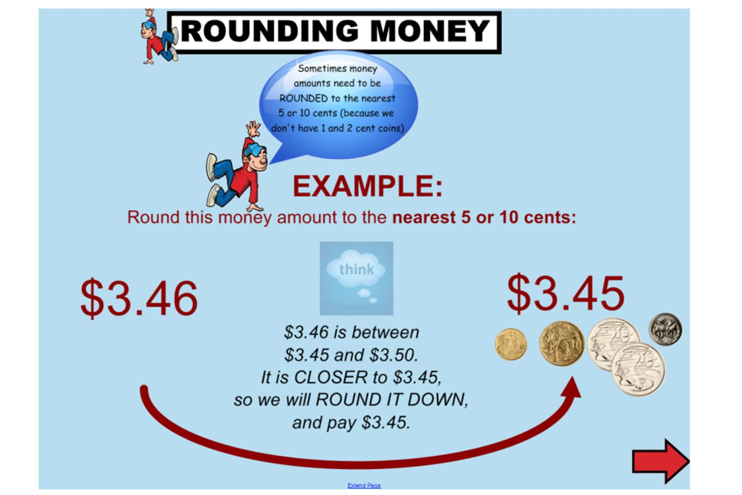 This Great Iwb Lesson Shows Students How To Round Money