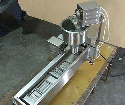 500PCS//H Heavy Duty Electric Auto Cake Donut Doughnut Maker Machine Fryer 3 Mold