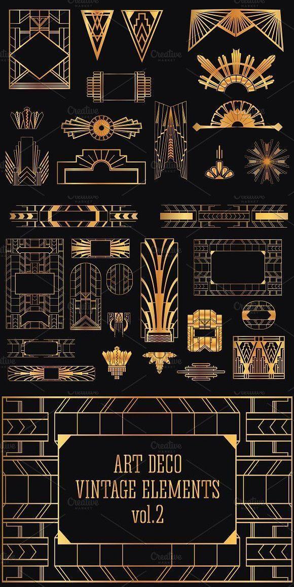 Best Pictures 31 Art Deco design elements volume 2 Decoration  Best Pictures 31 Art Deco design elements volume 2 Decoration  Thou