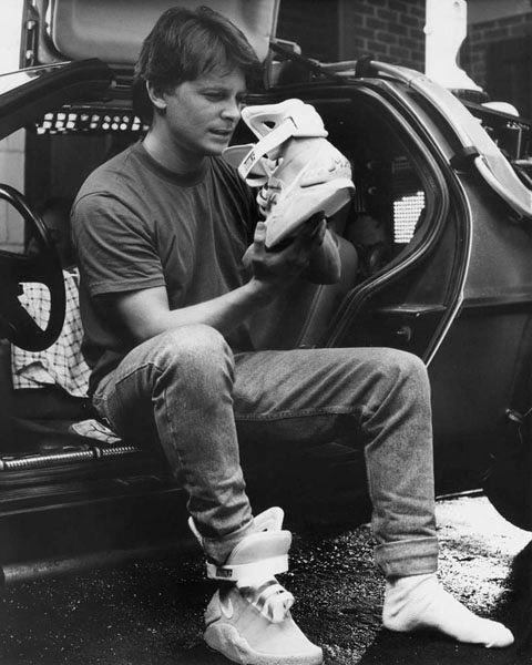 There's fly. and then there's Marty McFly. These Nike Back to the Future  Sneakers are clearly the latter, the very same style worn by Michael J Fox  in t