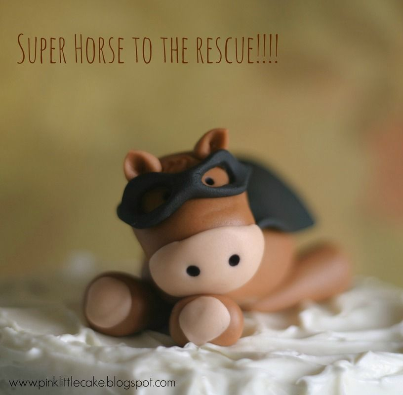 Super Horse to the RescueHow to make a Horse cake topper using
