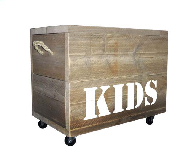 Vinyl Steigerhout Look : Deze robuuste speelgoedkoffer is gemaakt van echt steigerhout. de