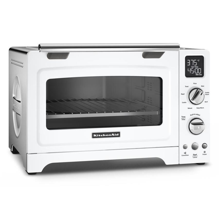 Kitchenaid 6 Slice White Convection Toaster Oven Lowes Com In 2020 Kitchenaid Toaster Oven Countertop Oven Convection Toaster Oven