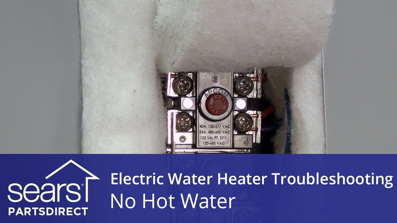 No Hot Water Electric Water Heater Troubleshooting Heating