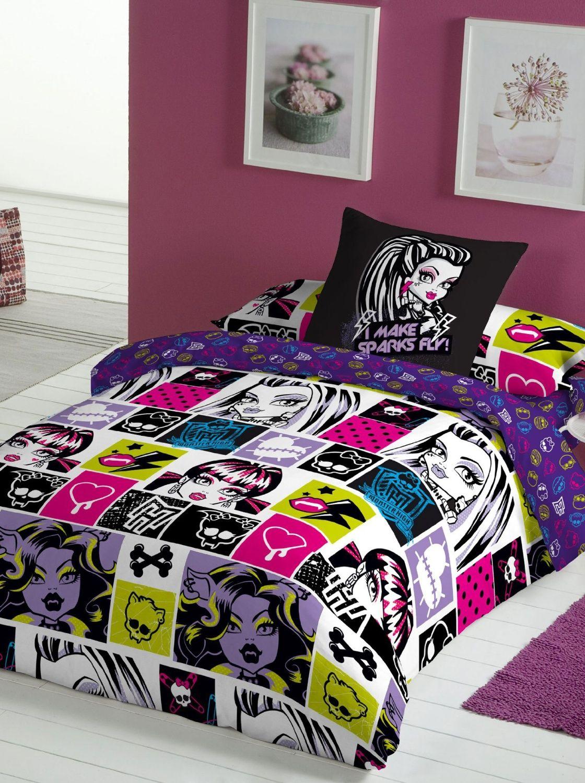 Monster High Chispas Single Bedding Set Duvet With 3pc Cover Fitted Sheet