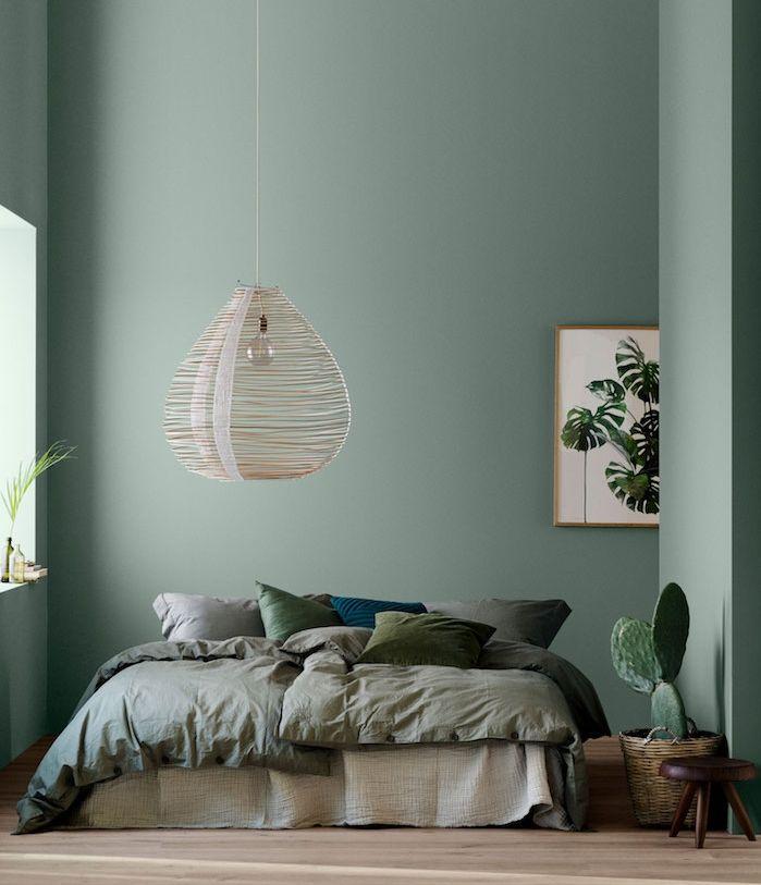 1001 id es d co charmantes pour adopter la nuance vert c ladon bleu celadon lit gris et. Black Bedroom Furniture Sets. Home Design Ideas