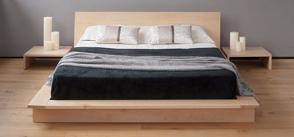 At The Natural Bed Company We Make Contemporary Wooden Beds In Workshops Near Our Showroom In Sheffield We Use Low Platform Bed Japanese Style Bed Bed Design