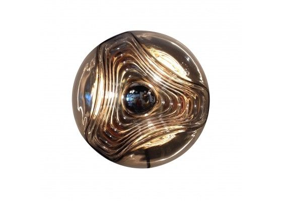 Vintage Brown Glass Wall Light for sale at Pamono
