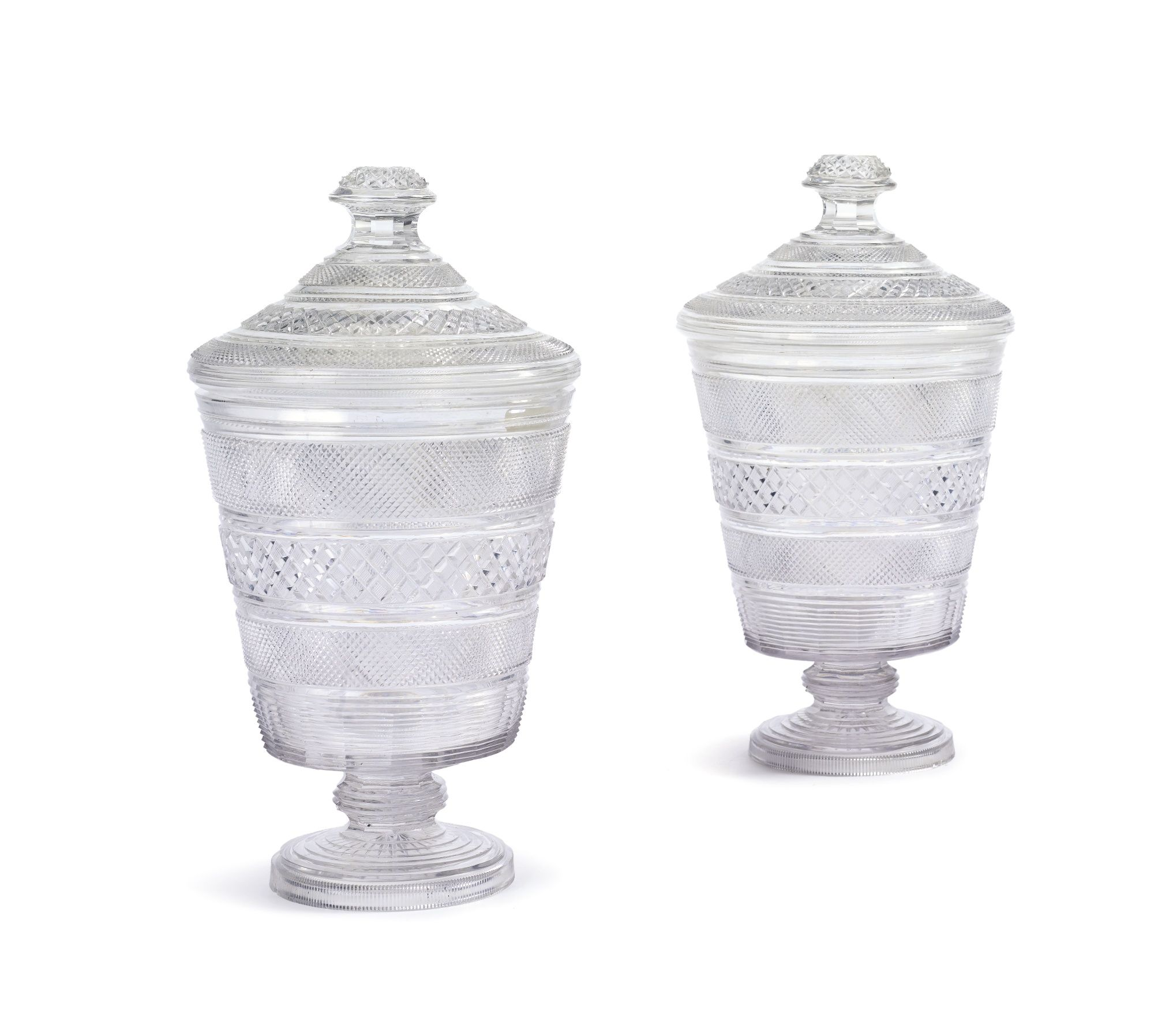 A pair of English cut-glass covered urns second quarter 19th century | Lot | Sotheby's
