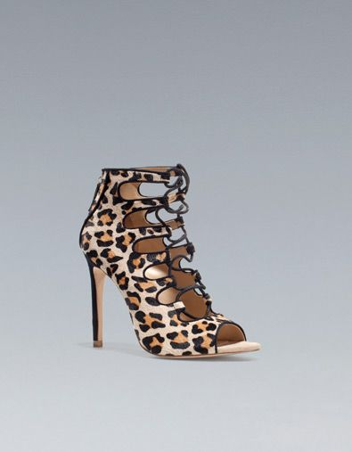 LEOPARD PRINT ANKLE BOOT SANDAL from Zara