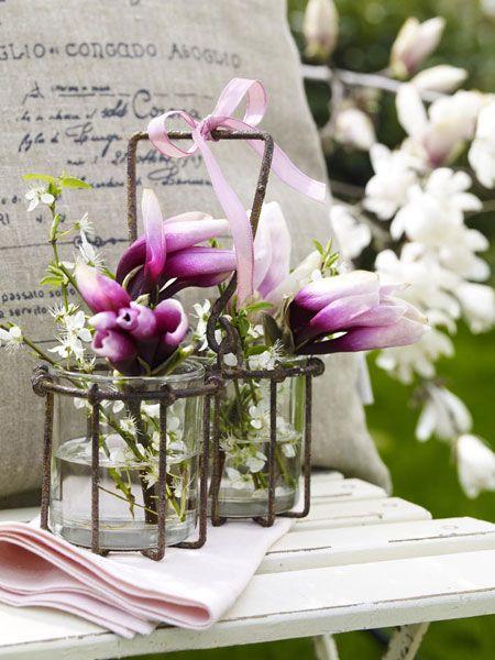 fr hbl her magnolie dekorieren frische deko mit magnolia garten pinterest dekorieren. Black Bedroom Furniture Sets. Home Design Ideas
