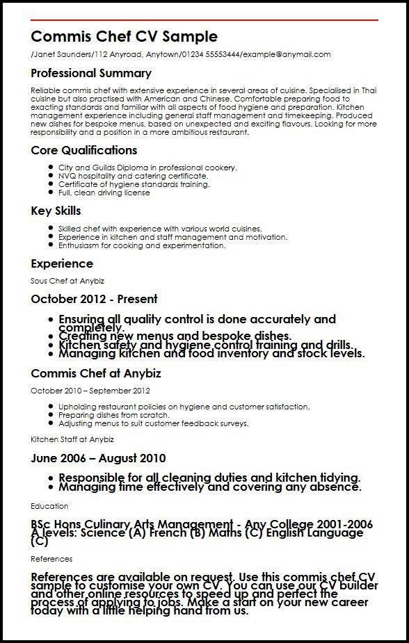 commis 3 resume examples