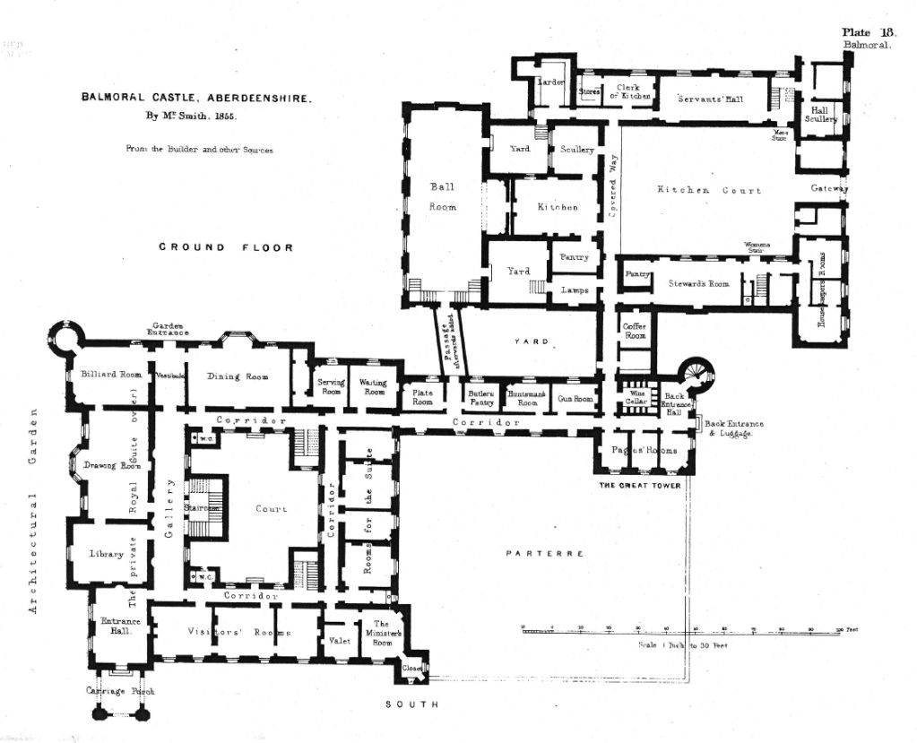 Ground floor plan of balmoral castle balmoral castle for Castle house designs