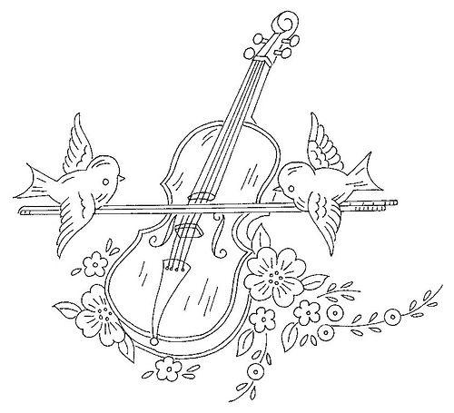 Ni 026 A Com Imagens Desenho De Violino Moldes De Desenhos