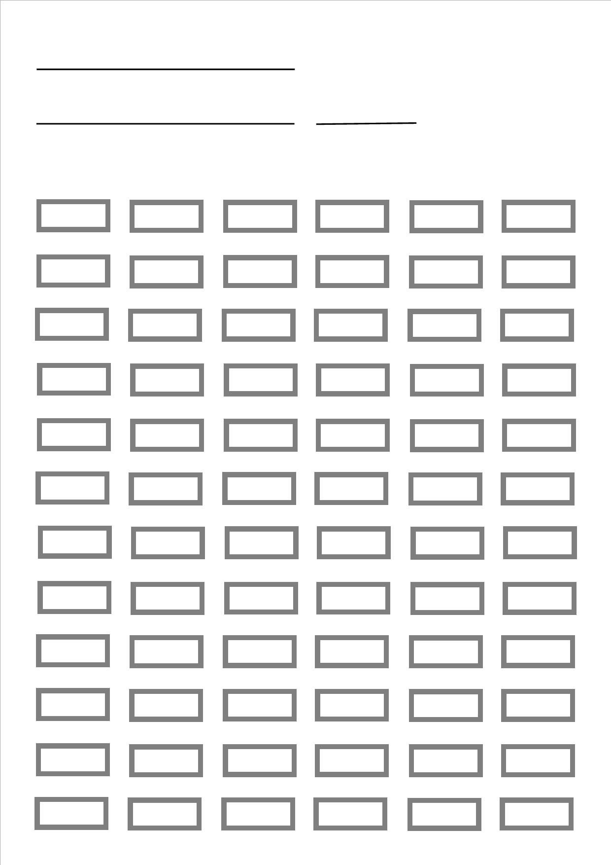 Extrêmement blank pencil chart for up to 72 pencils. prints A4 size. Designed  PS87