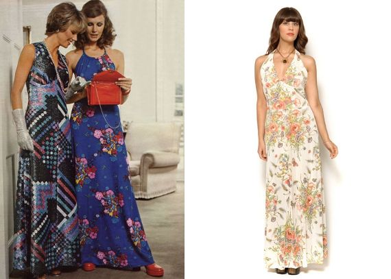 maxi dress 70s style image | Beautiful dresses | Pinterest | Maxi ...