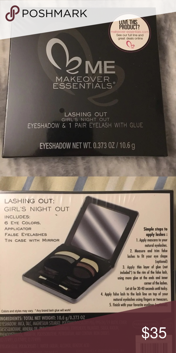Makeup Essentials Lashing Out Brand New Still In Packaging Lacking Out Kit Includes Eyeshadows And Eyelashes Wit Makeup Essentials Lashes Makeover Essentials