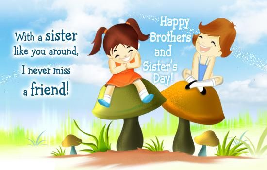 Happy National Siblings Day 2016 Hd Pictures N Wallpaper Images