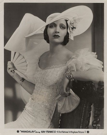 """Kay Francis in """"Mandalay"""" (1934). Costume design by Orry-Kelly (gowns)."""