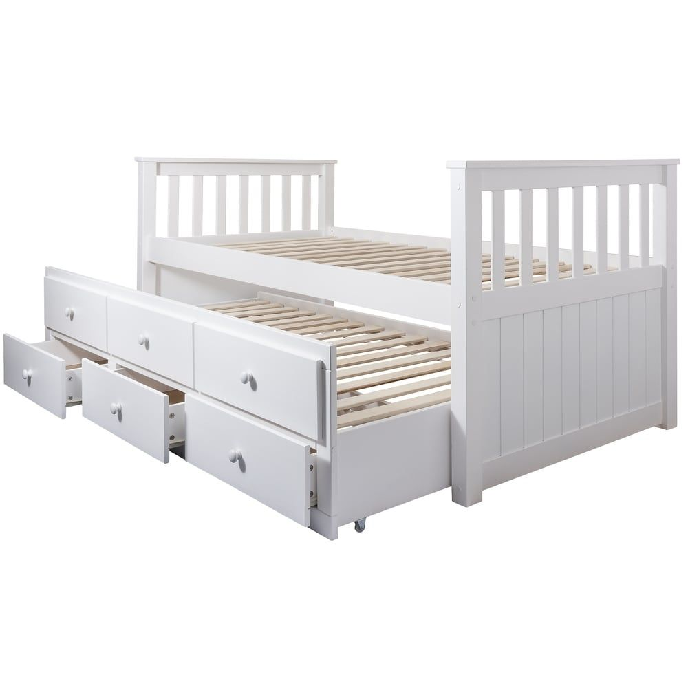 Best Day Bed Loki Single Bed With Pullout Drawers And Trundle 400 x 300