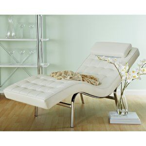 Euro Style Valencia Leather Chaise Lounge Image