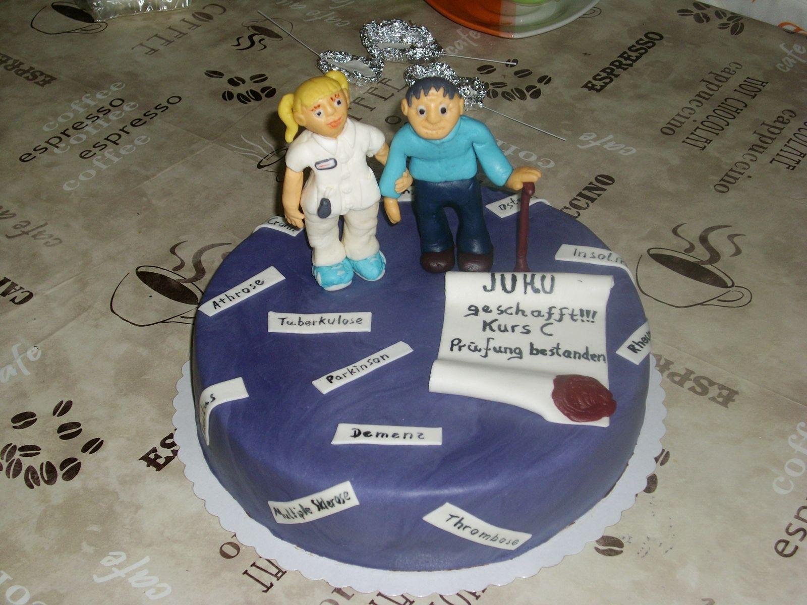 Elderly care exam cake Examen Altenpflege Torte