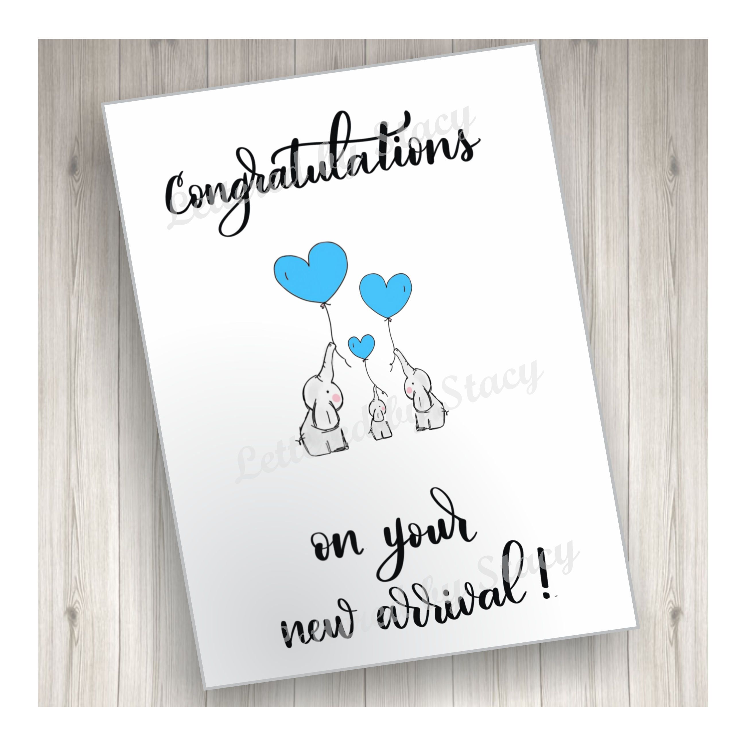 New Baby Card Congratulations On Your New Arrival With Etsy In 2021 Baby Cards New Baby Cards New Baby Products