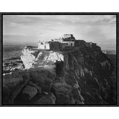 Global Gallery 'Full View of the City on Top of Mountain, Walpi, Arizona, 1941' by Ansel Adams Framed Photographic Print on Canvas Size: 1