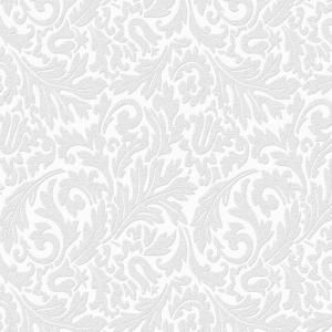 Delightful Damask Paintable Removable Wallpaper, White