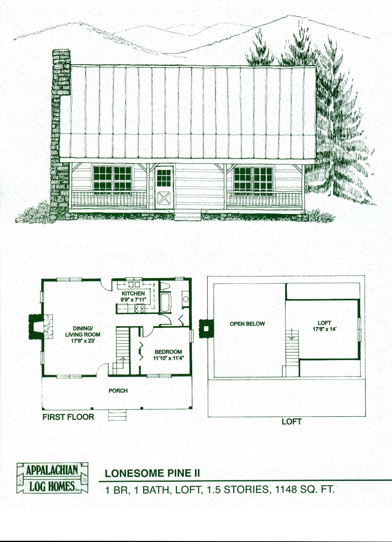 Log Home Floor Plans - Log Cabin Kits - Appalachian Log Homes ...