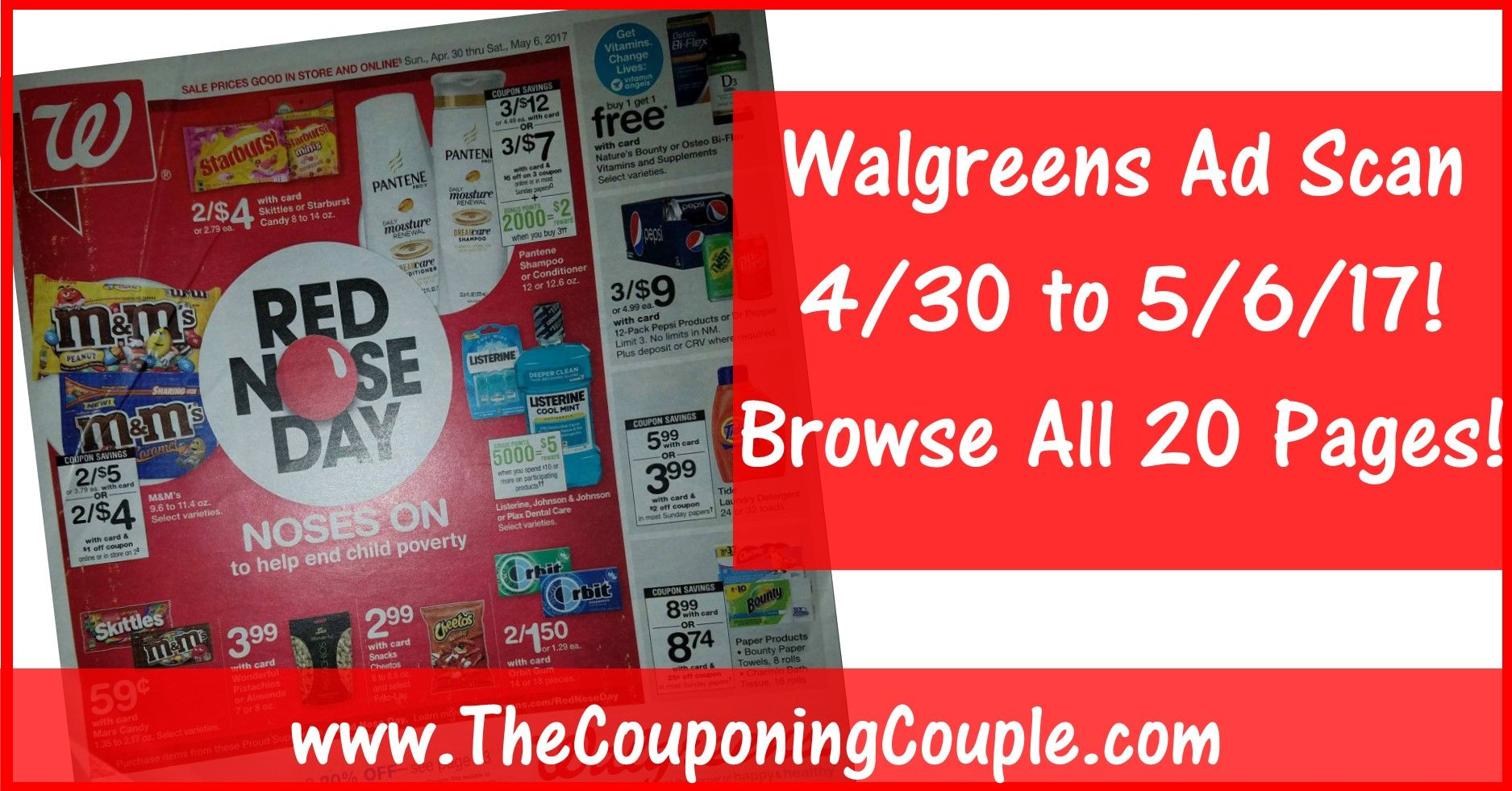 Walgreens Ad Scan for 4-30 to 5-6-17 ~ BROWSE All 20 Pages