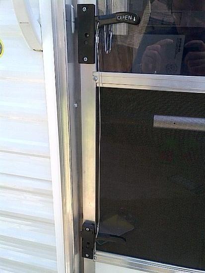 Kid Friendly Rv Screen Door Latch Mod 2 Handles One Door