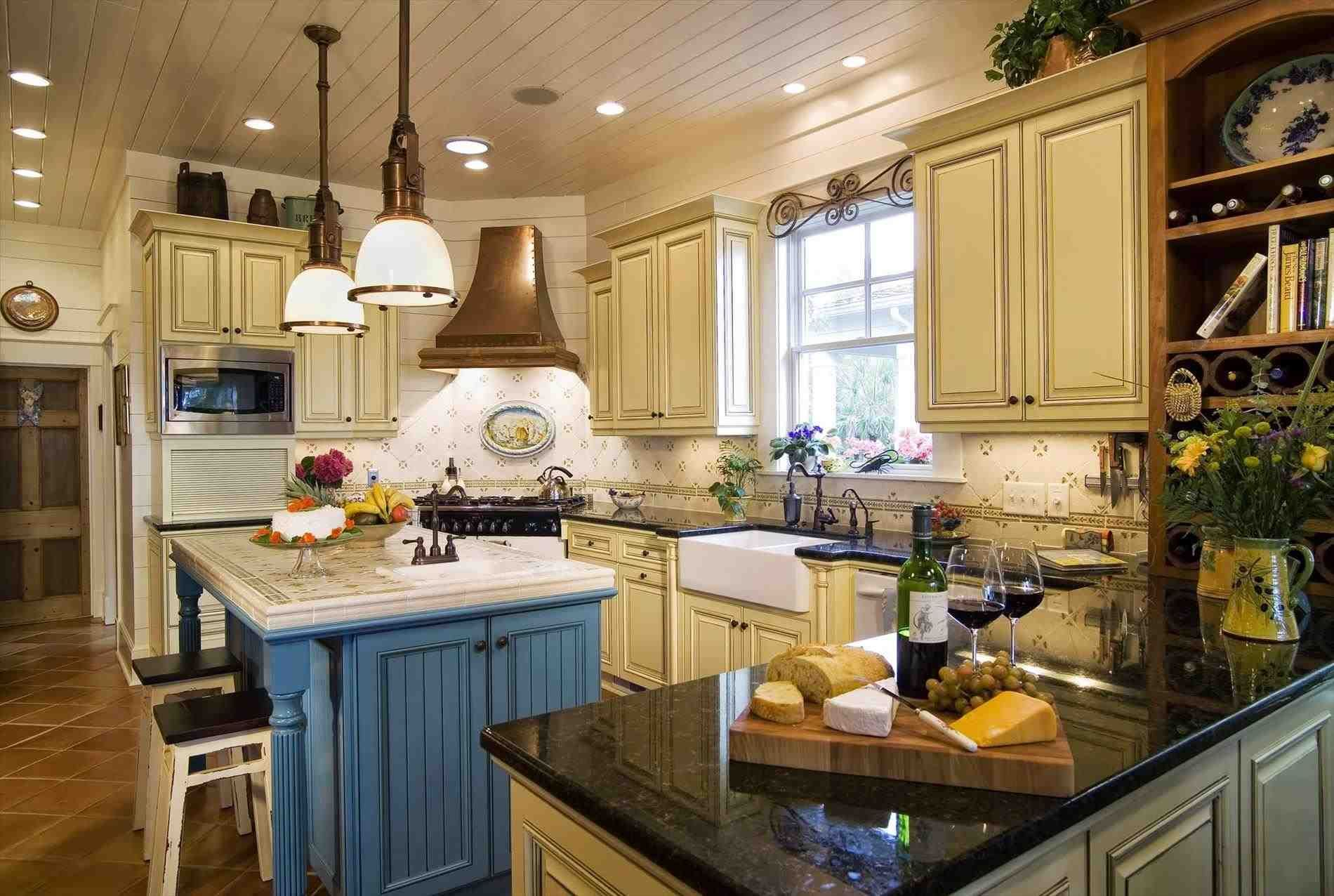 New post rustic blue kitchen cabinets decors ideas pinterest