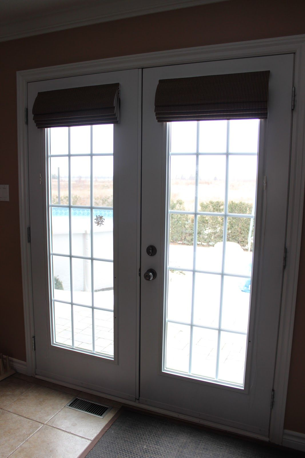 Ideas For French Door Coverings Part - 18: Buy Customized Shades For French Doors | Drapery Room Ideas