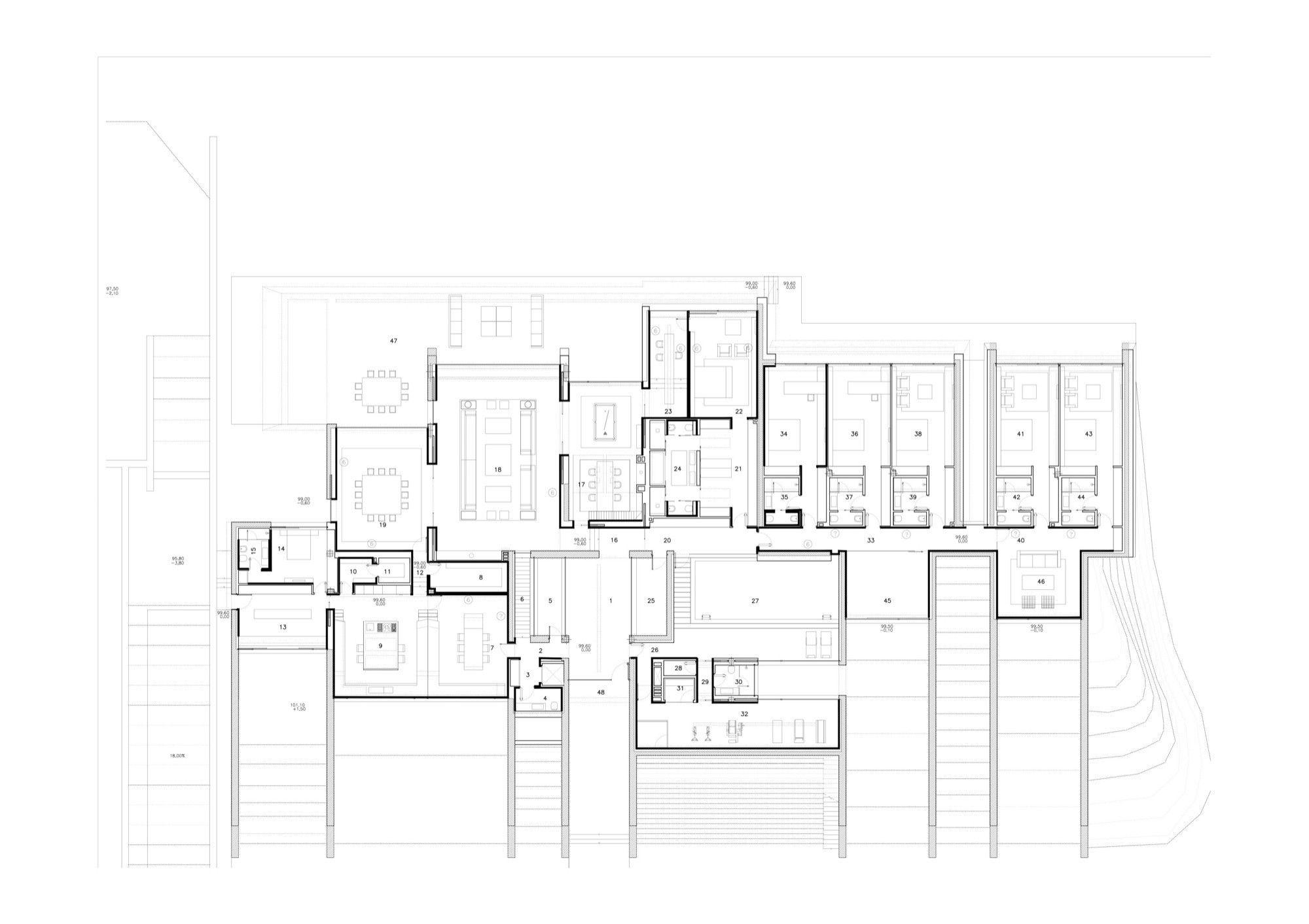 Gallery Of Concrete House Ii A Cero 32 Concrete House Ground Floor Plan Floor Plans