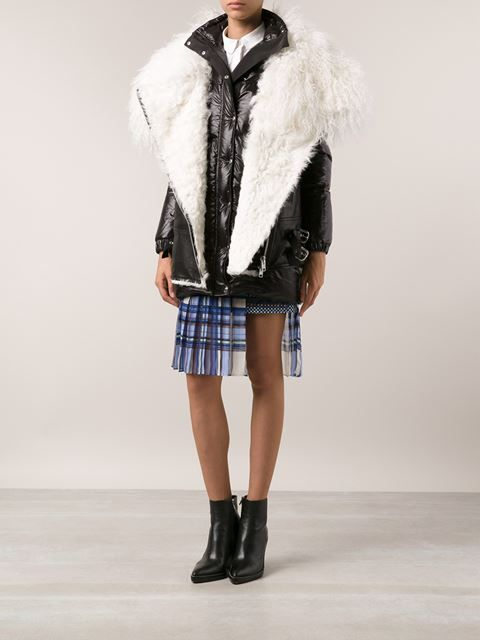 Sacai Padded Lamb Down Coat - Forty Five Ten - Farfetch.com